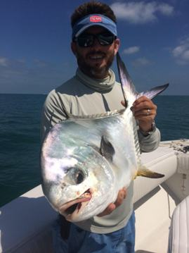 Permit caught around Key West on a crab